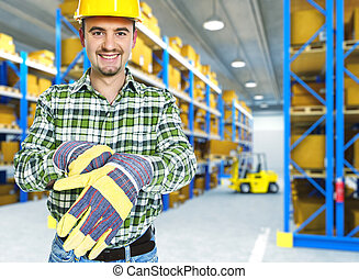 manual worker in a warehouse