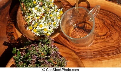 herbal tea - making herbal tea