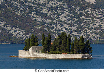 Perast, Island of St. George and Our Lady of the Rock...