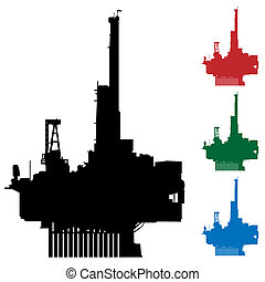 Oil Rig - An image of an oil rig.