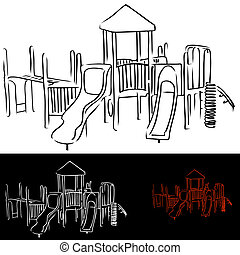 Playground Equipment - An image of childrens playground...