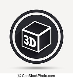 3D Print sign icon. 3d cube Printing symbol. Additive...