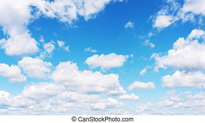 Beautiful view of blue sky and clouds. Real scene without...