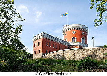 Stockholm, Kastellet - Fortress on the island KASTELLHOLMEN....