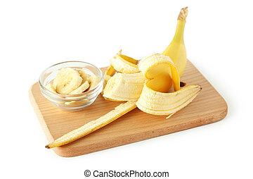 白, バナナ, 隔離された