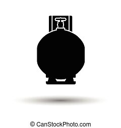 Gas cylinder icon. White background with shadow design....