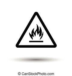 Flammable icon. White background with shadow design. Vector...