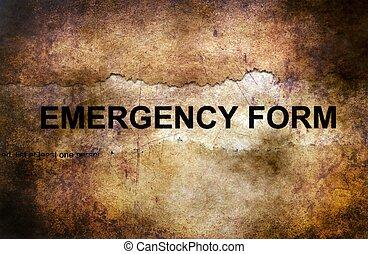 概念, グランジ, 緊急事態, 形態