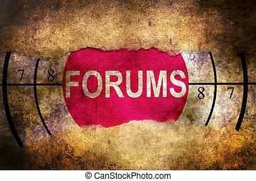 Web forums target grunge concept