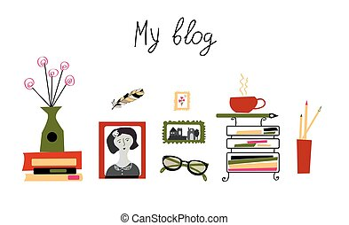 Blog banner for the photographer or writer - girly cute...