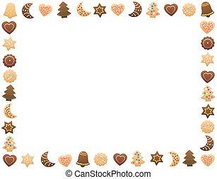Christmas Cookies Frame Horizontal - Christmas cookies and...