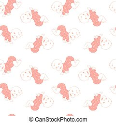 Vector seamless pattern with cute crawling babies.