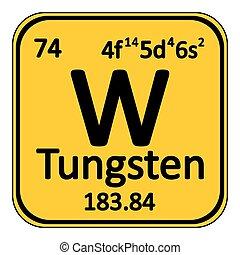 Periodic table element tungsten icon. - Periodic table...