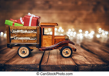 presents on toy car - Merry Christmas and Happy Holidays!...