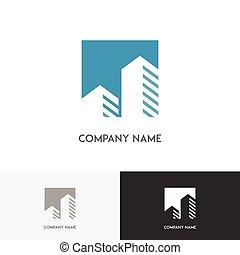Skyscraper arrow logo