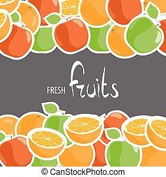 Bright apples and oranges