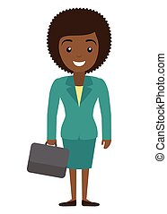 Vector illustration of afro american businessman and...