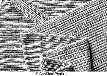 Closeup macro texture of knitted cotton fabric