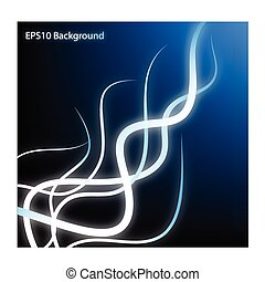 Abstract blue  background with curve. Vector