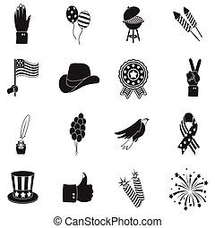 Patriot Day set icons in black style. Big collection Patriot Day vector symbol stock illustration