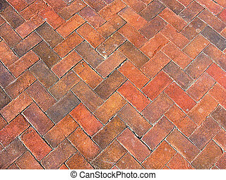 Traditional Red Brick Background - A background of antique...