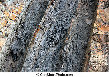 geological layers of earth - layere