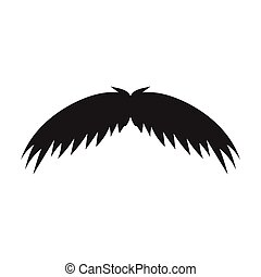 Man's mustache icon in black style isolated on white...