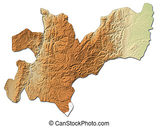 Relief map - Caldas (Colombia) - 3D-Rendering
