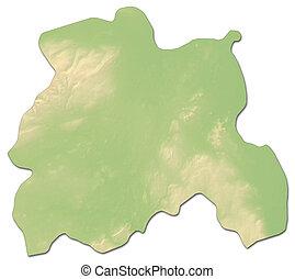 Relief map - Laois (Ireland) - 3D-Rendering - Relief map of...
