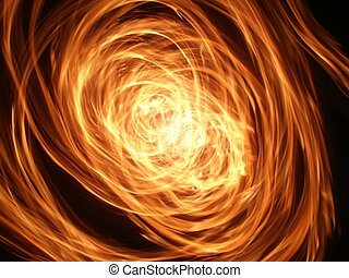 Whirlwind of Flame - A whirlwind of flame lights up the...