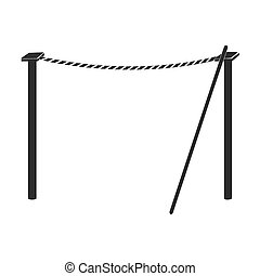Tightrope icon in black style isolated on white background....