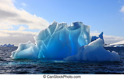 Iceberg Antarctica - Wonderful iceberg nearly transparent in...