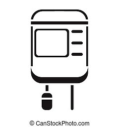 Drop counter icon in black style isolated on white background. Medicine and hospital symbol stock vector illustration.