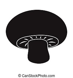 Champignon icon in black style isolated on white background....