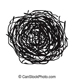 Tumbleweed icon in black style isolated on white background....