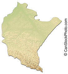 Relief map - Podkarpackie (Poland) - 3D-Rendering
