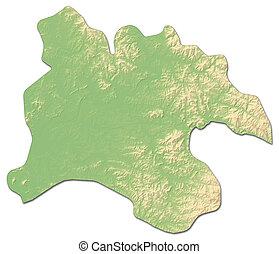 Relief map - Pyongyang (North Korea) - 3D-Rendering - Relief...