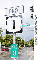 end of the road number 1, Key West, Florida, USA