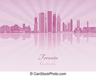 Toronto V2 skyline in purple radiant orchid