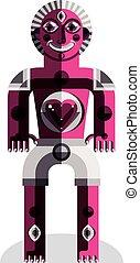Graphic vector illustration, anthropomorphic character...