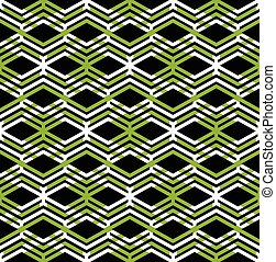 Green abstract seamless pattern with interweave lines....