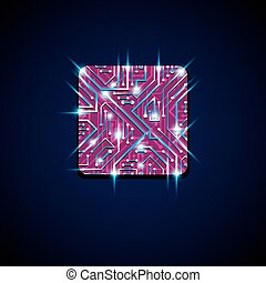 Vector technology cpu design with square luminescent...