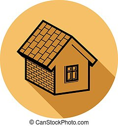 Simple house detailed vector illustration. Property developer conceptual icon, real estate emblem.  Building modeling and engineering projects abstract symbol.