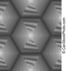 Ornate vector monochrome abstract background with black...
