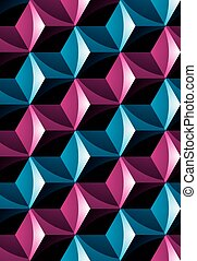 Colorful illusive abstract geometric seamless pattern with...