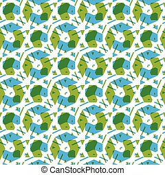 Geometric messy seamless pattern, colorful maze vector...