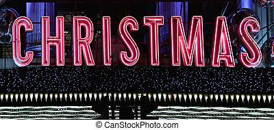 Christmas Neon Sign - Big Pink Christmas Neon Lights at...