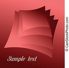 Illustration of red abstract for design