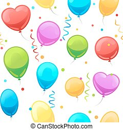 Party baloon seamless pattern. Cartoon balloons celebration...