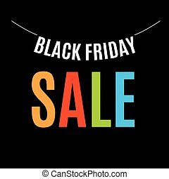 Isolated colorful black friday announcement logo. Shopping...